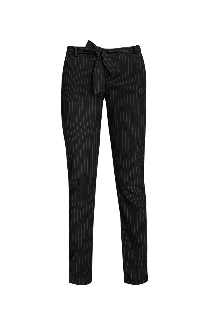 Pantalón basic rayas negro