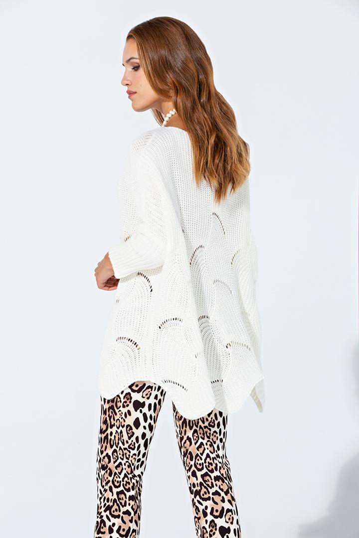 Jersey blanco oversize