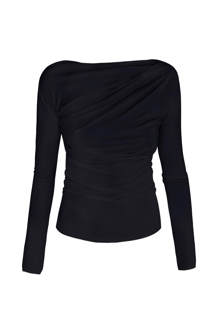 Top drapeado negro Top Drapeado Negro Basic Teria Yabar