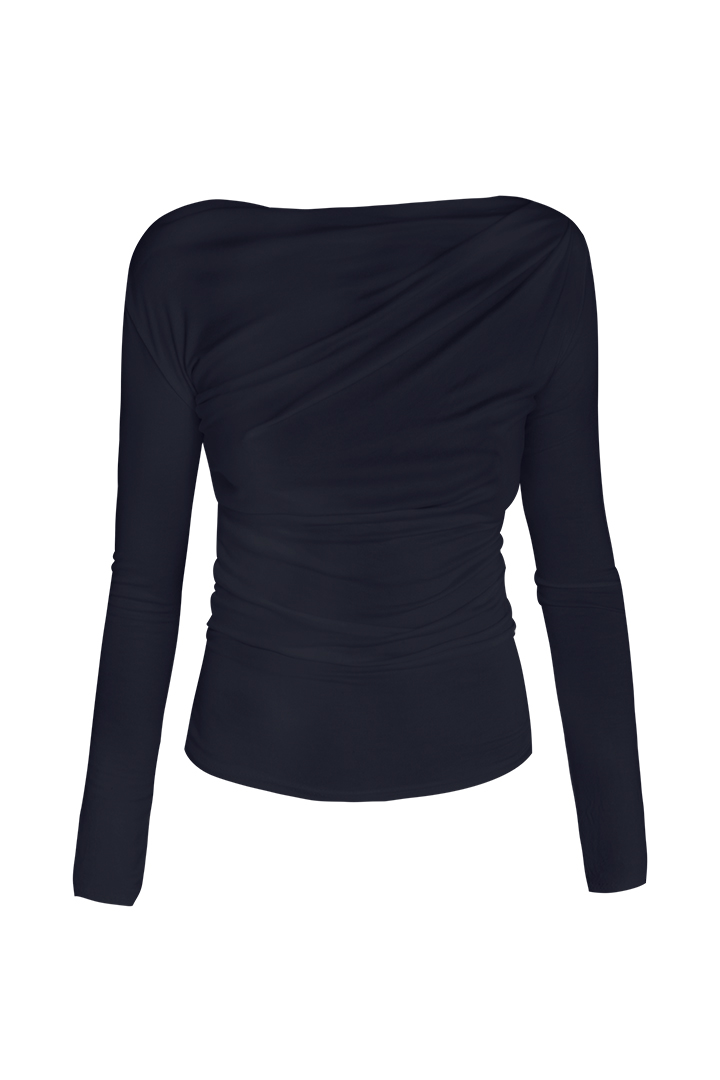 Top drapeado navy  Top Drapeado Navy Basic Teria Yabar