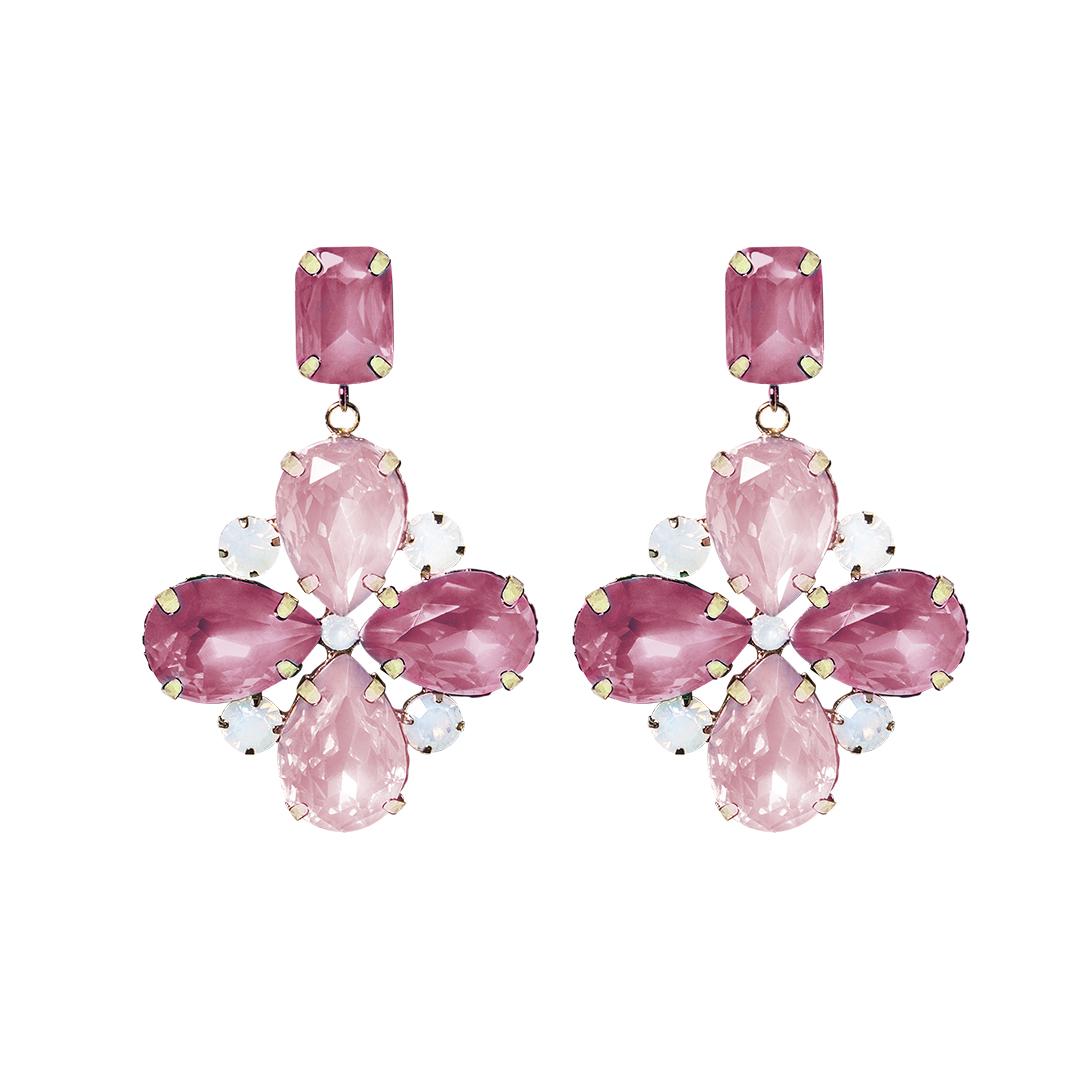 Teria Yabar - Pendientes de fiesta en rosa y fucsia