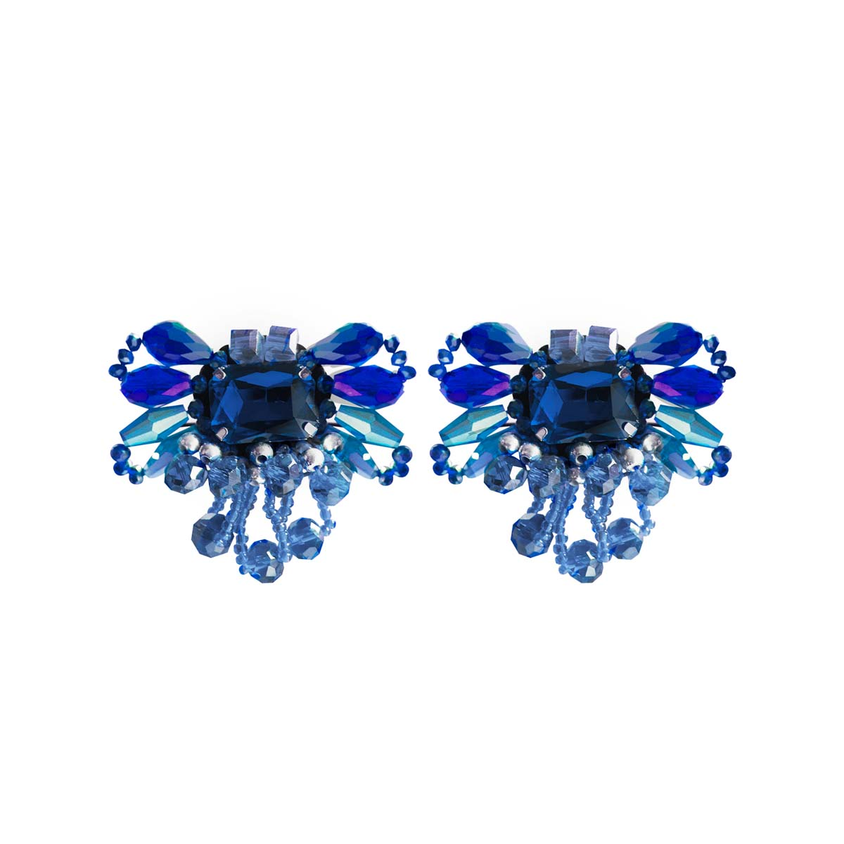 Teria Yabar - Pendientes de cristal azul
