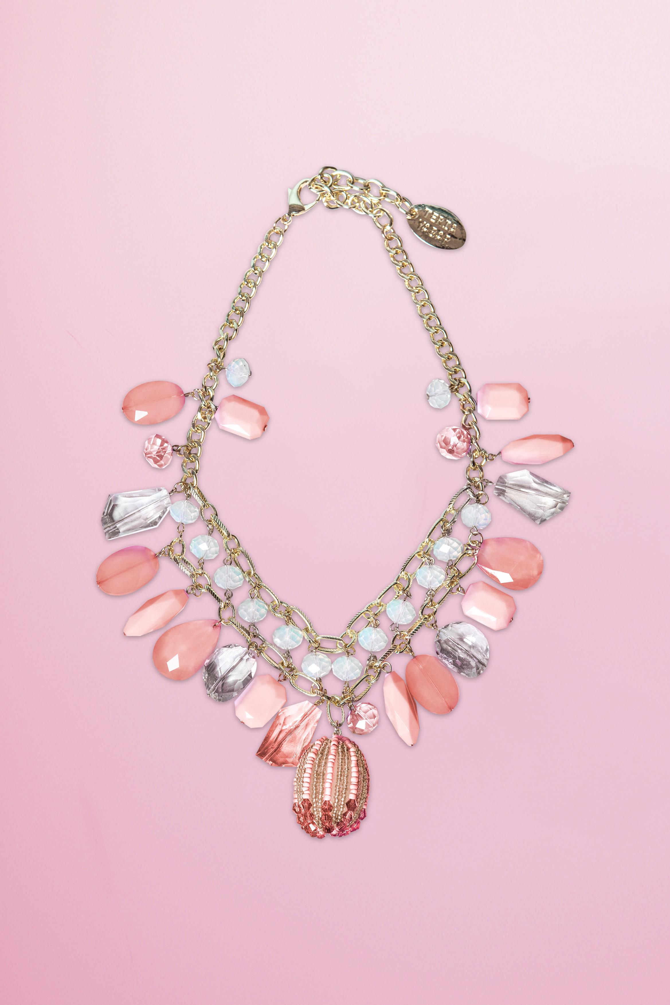 Collar Murano Rosa Teria Yabar