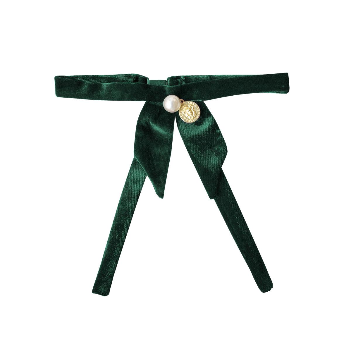Cuello Terciopelo Verde