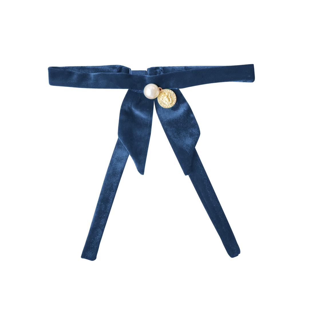 Cuello Terciopelo Azul Teria Yabar