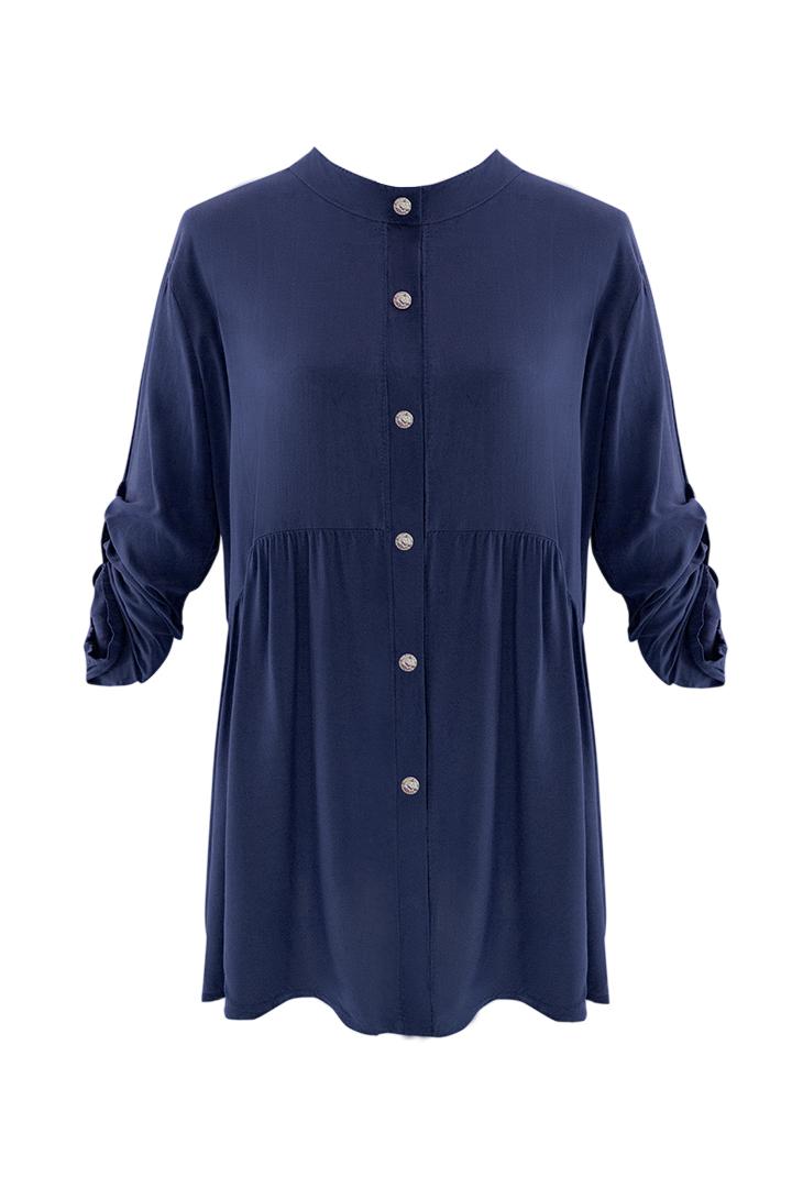 Camisa Baby Navy Basic Teria Yabar