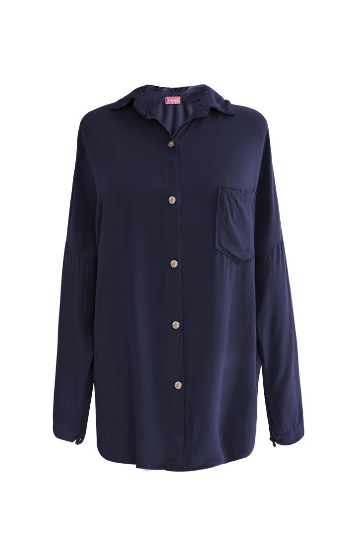Camisa Navy Bolsillo Basic Teria Yabar