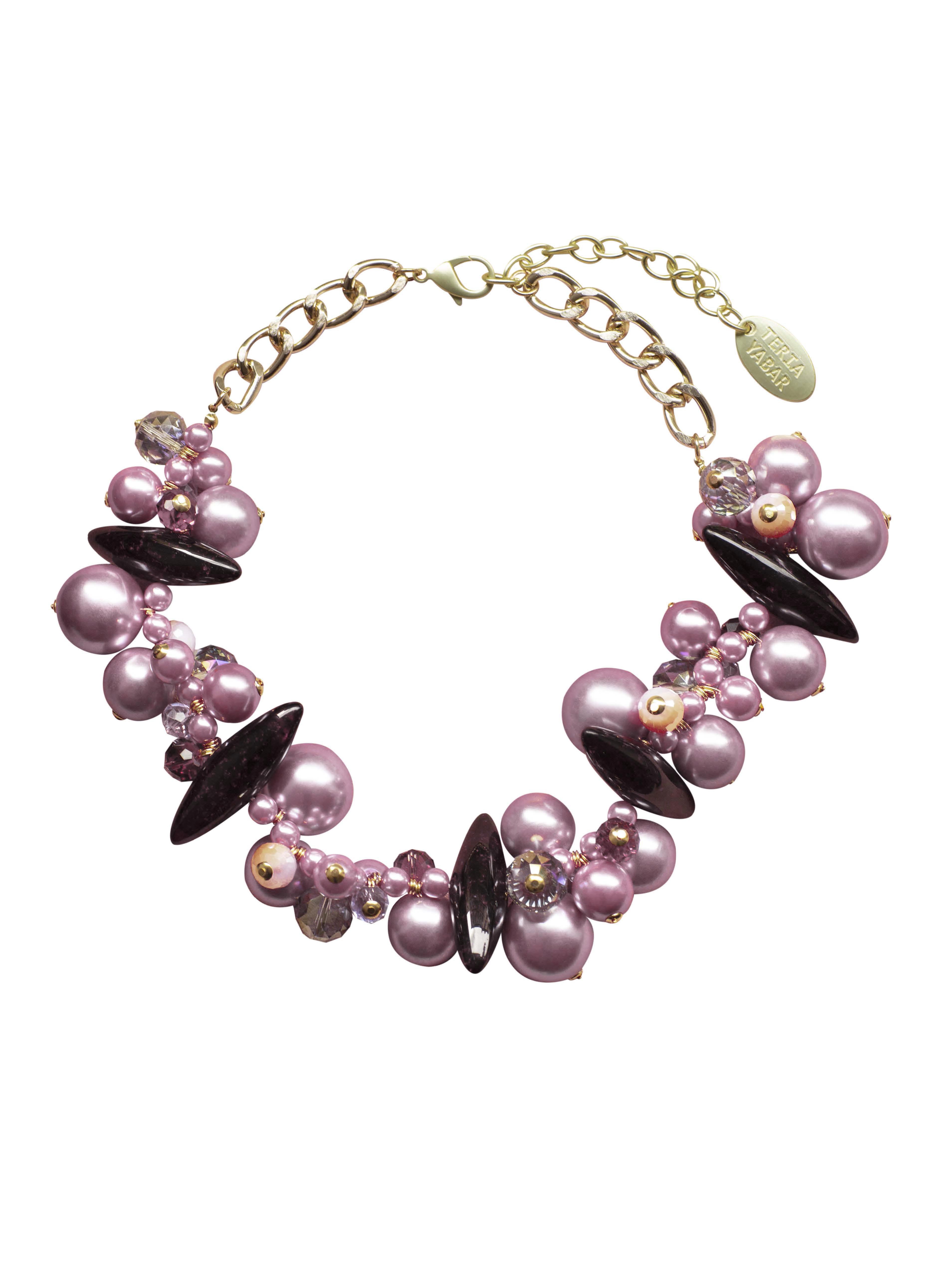 Collar Perlas Moradas Teria Yabar