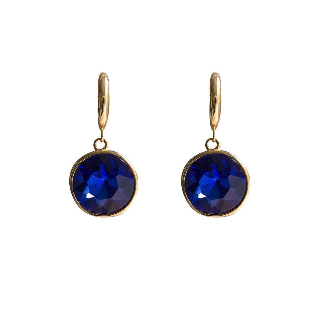 Teria Yabar - Pendientes de gemas azules