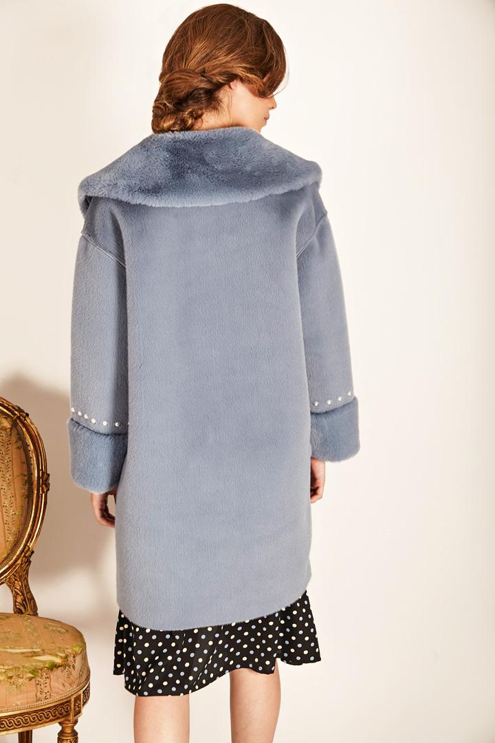 Abrigo azul de furry