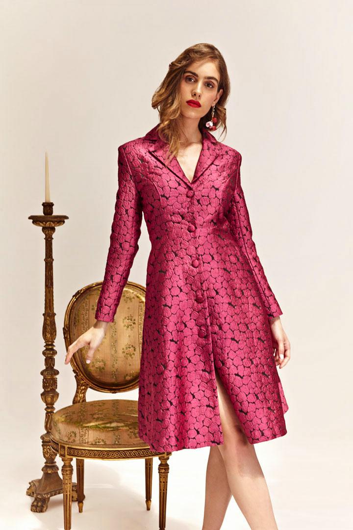 Vestido abrigo fucsia