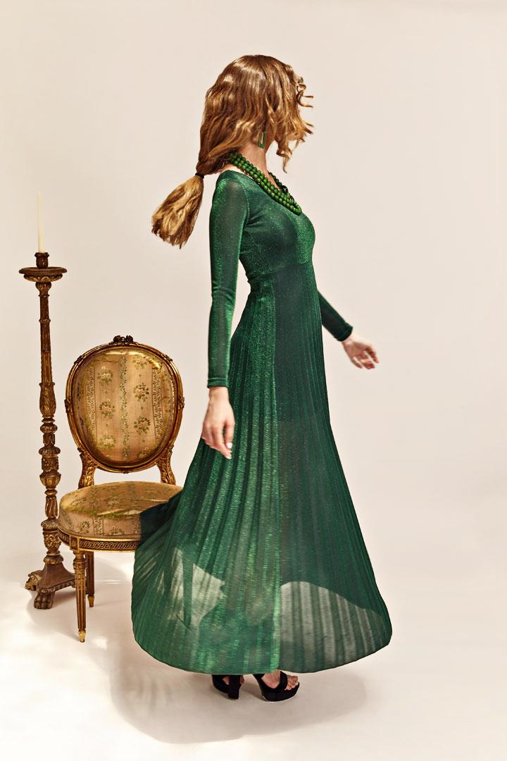 Vestido verde Constelación