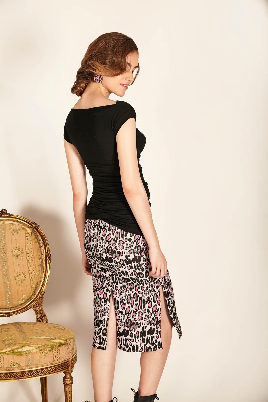Falda de tubo midi
