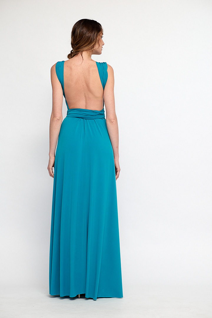 Vestido multiposición azul
