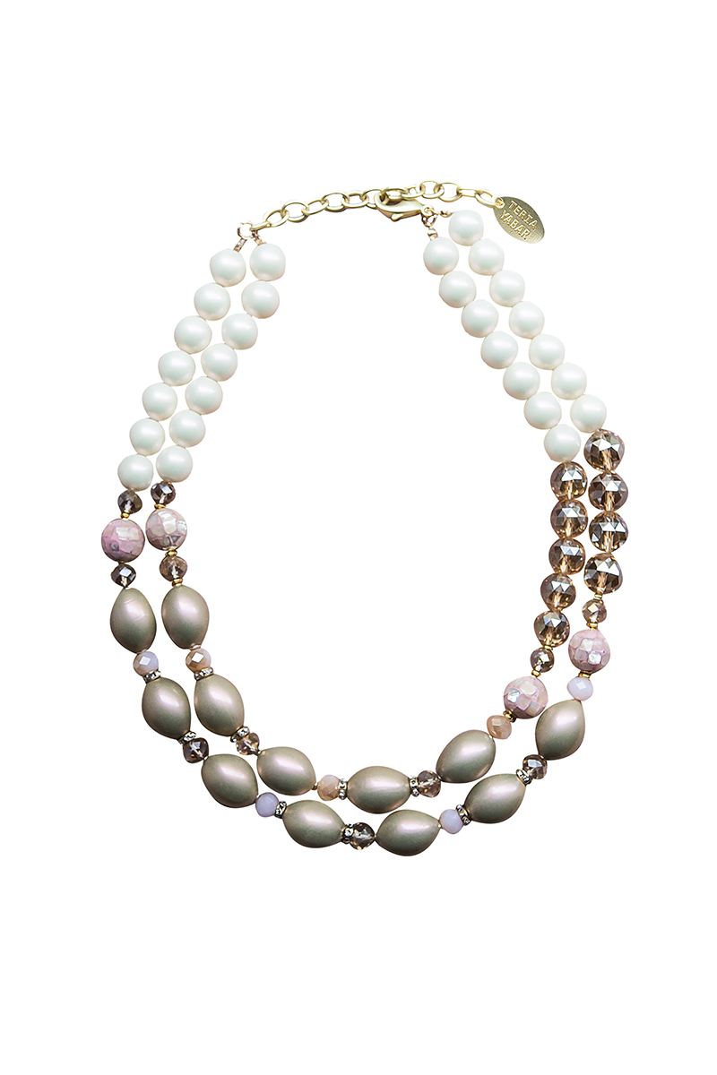 Teria Yabar - Collar de perlas ámbar
