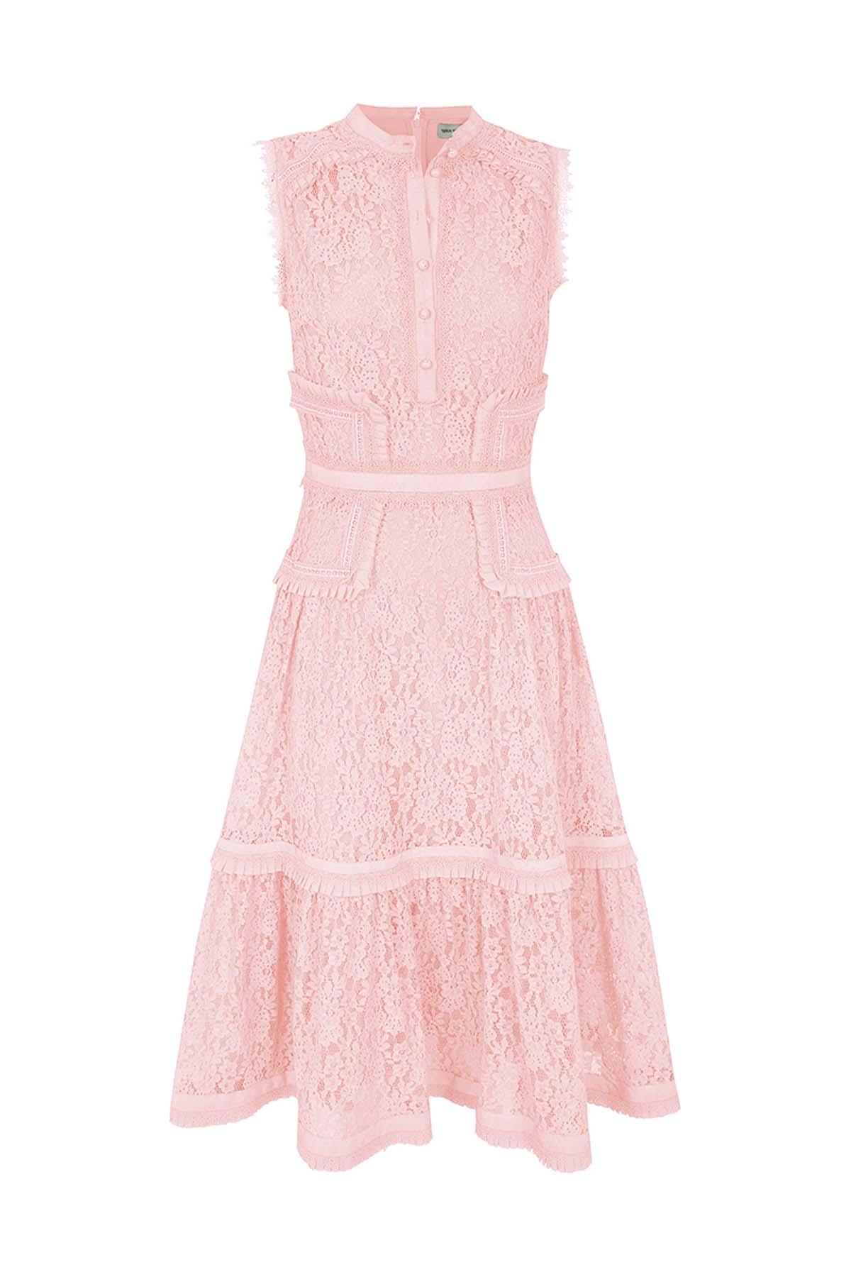 Teria Yabar - Vestido rosa de ceremonia