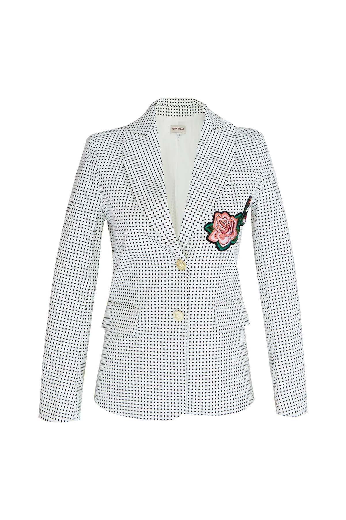 Teria Yabar - chaqueta sastre de lunares