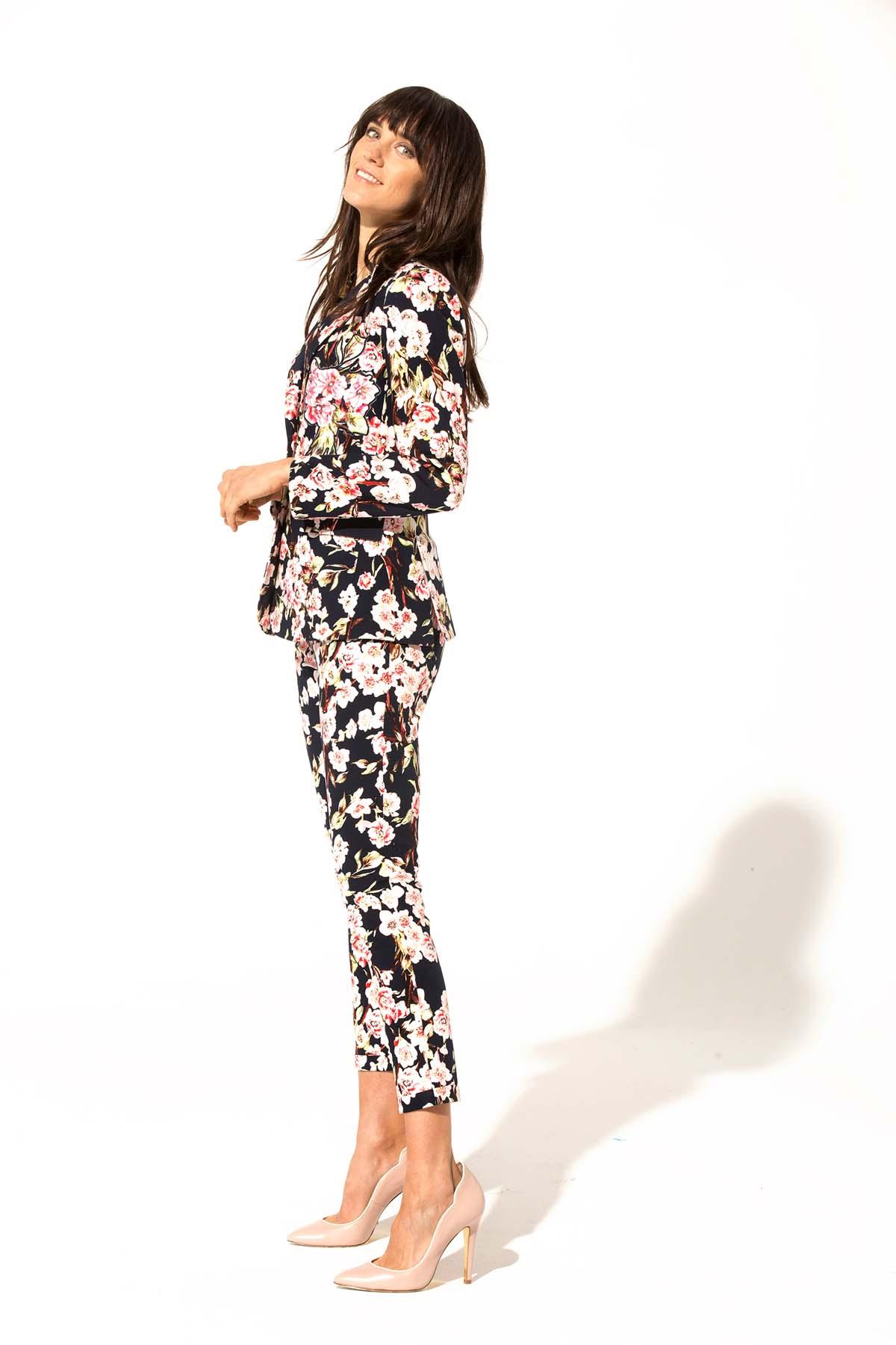 Teria Yabar - Chaqueta de flores