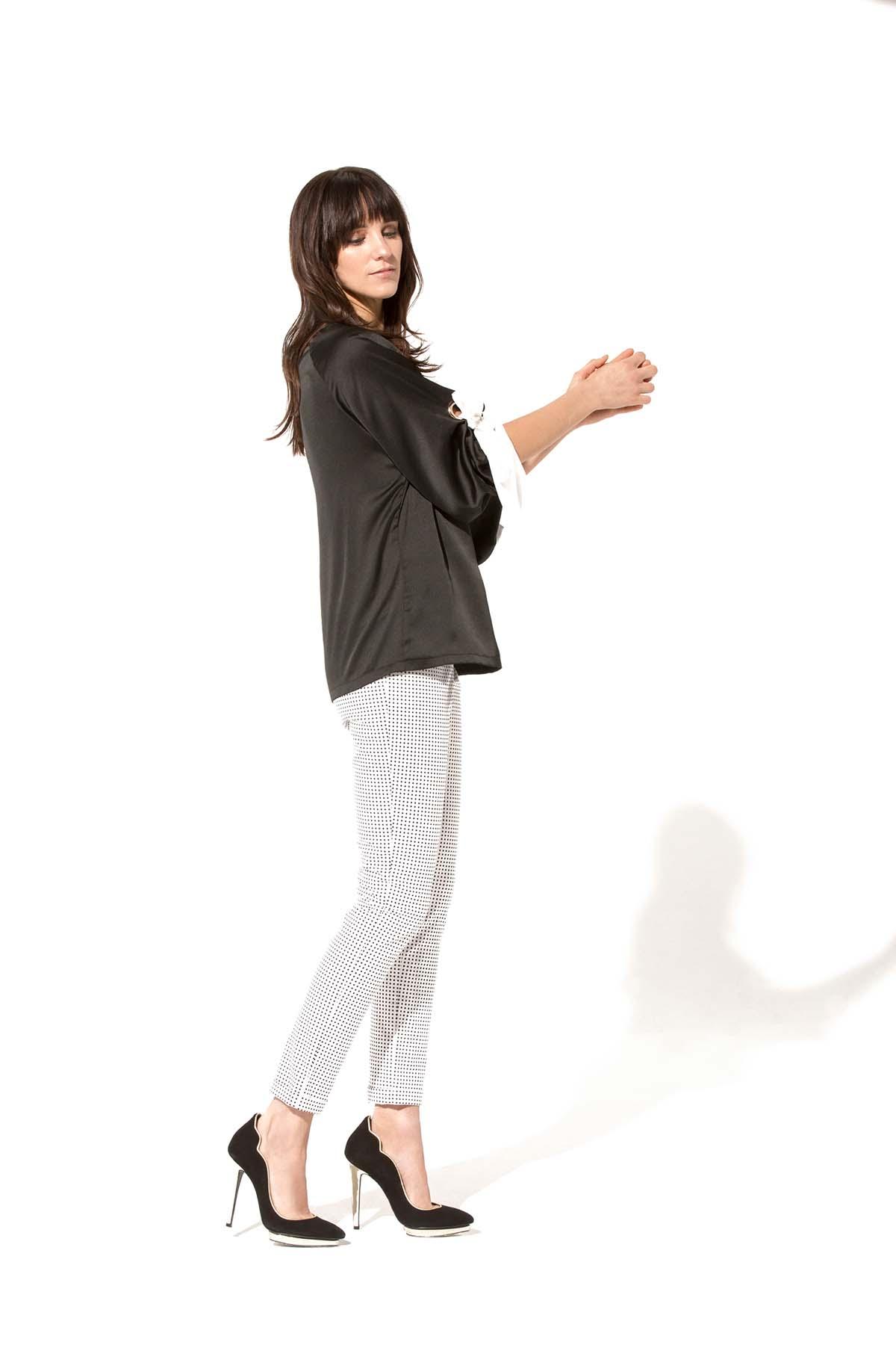 Pantalón de lunares Teria Yabar - Pantalón de lunares