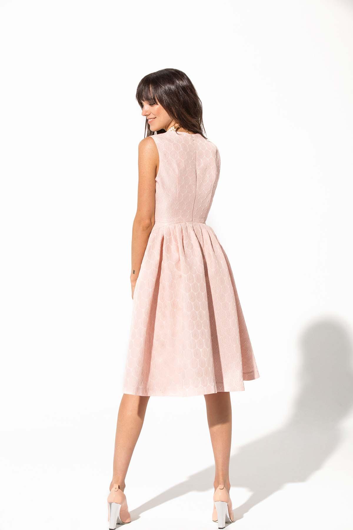 Vestido rosa y plata Teria Yabar - Vestido rosa y plata