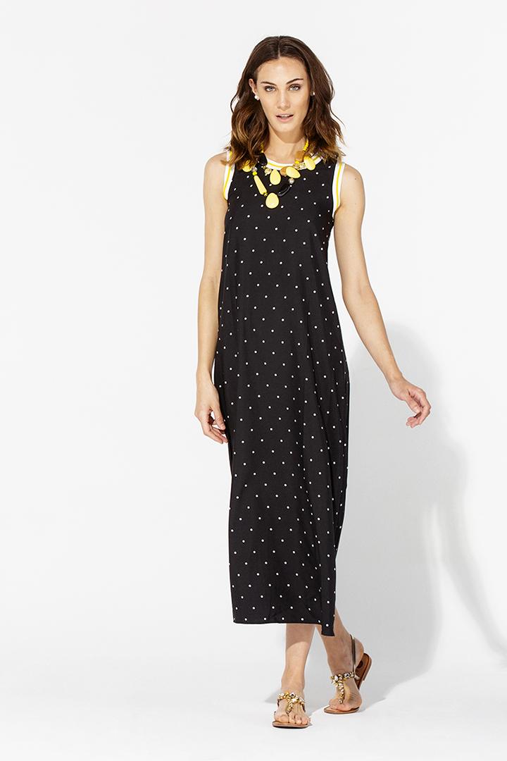 Teria Yabar - Vestido largo negro