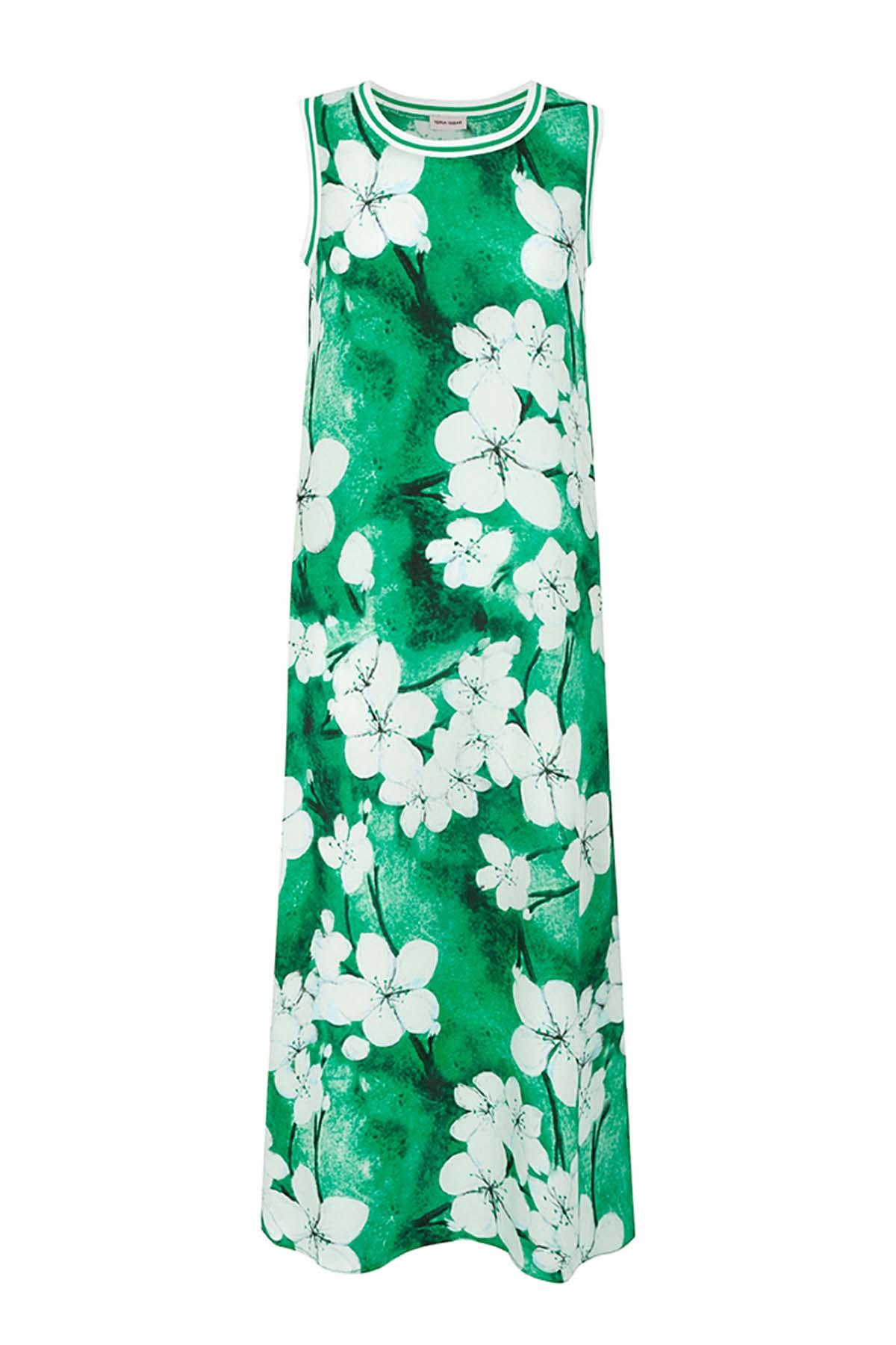Teria Yabar - Vestido verde largo de verano