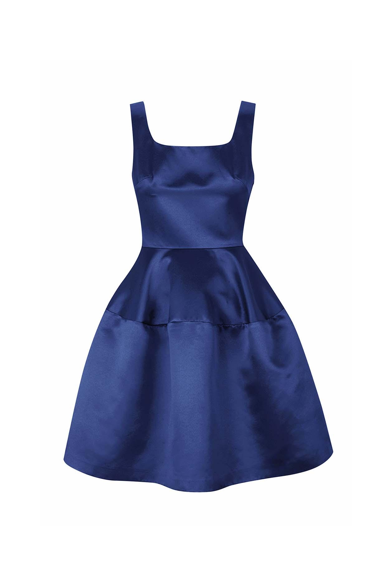 Teria Yabar - Vestido lady satén azul