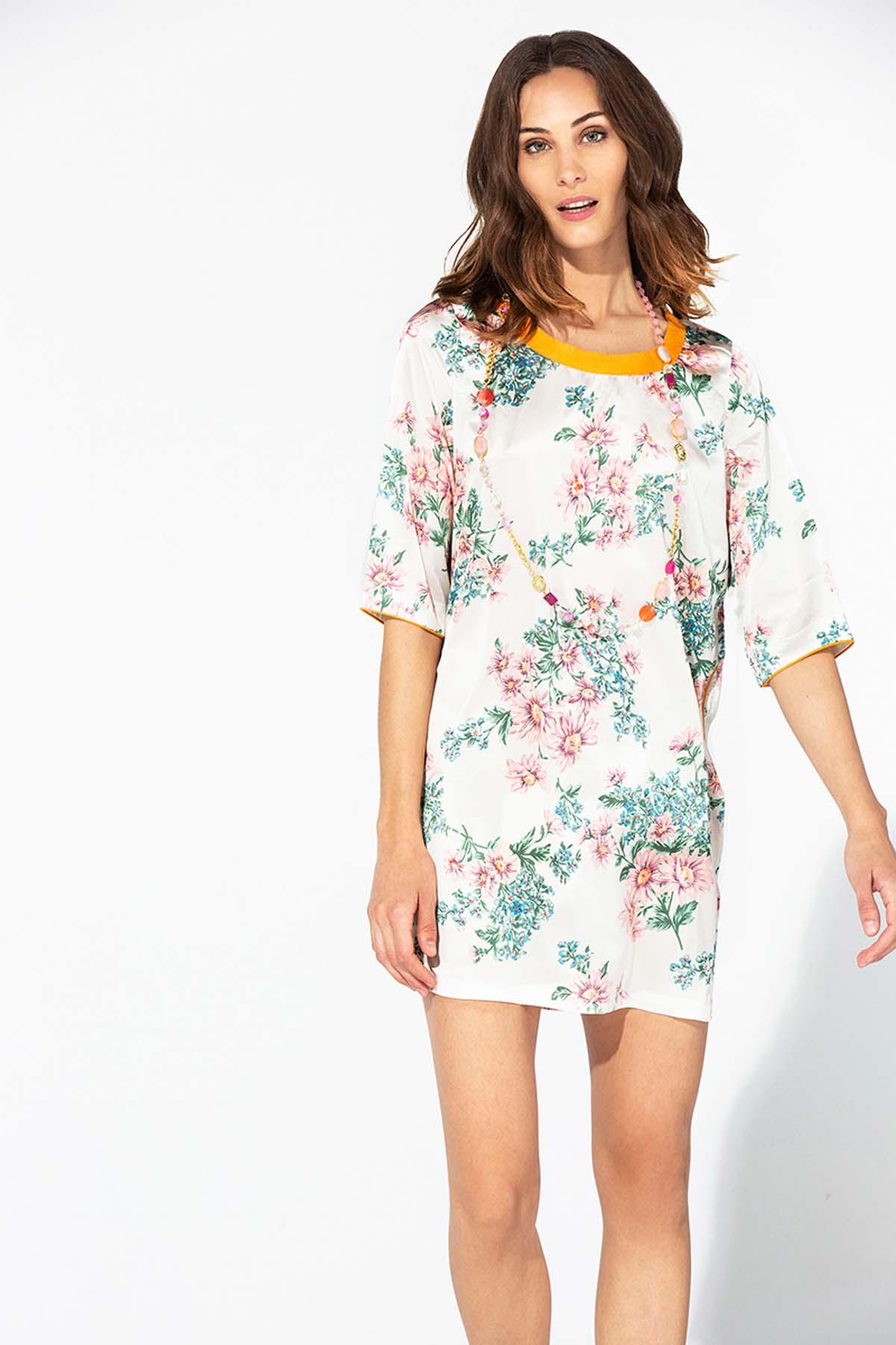 Teria Yabar - Vestido corto estilo túnica