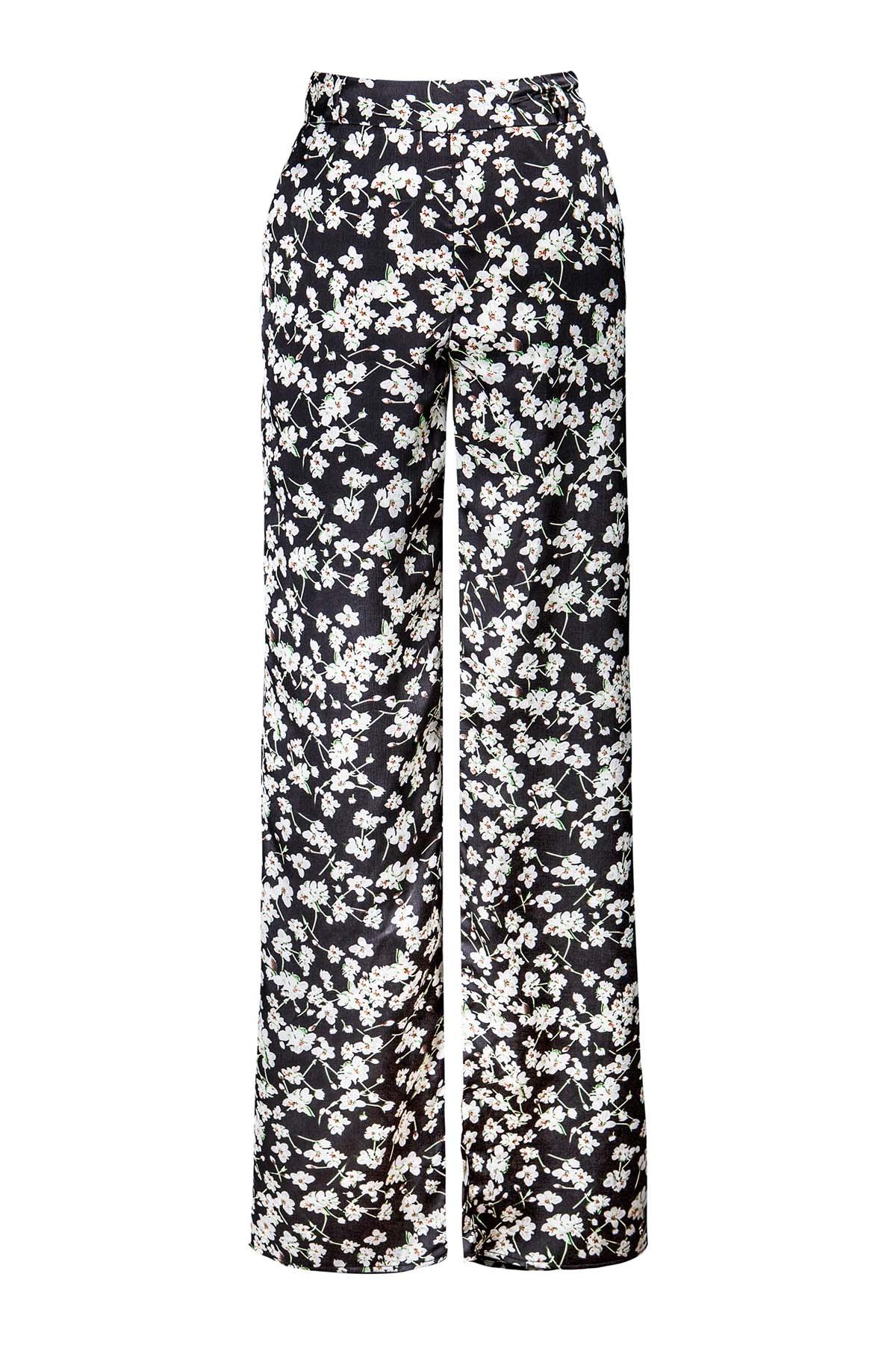 Teria Yabar - Pantalón flare de flores