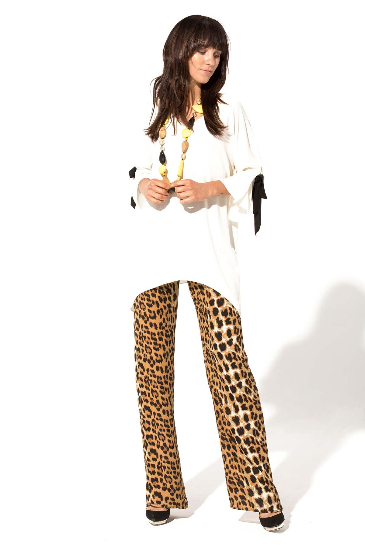 Teria Yabar - Pantalón animal print