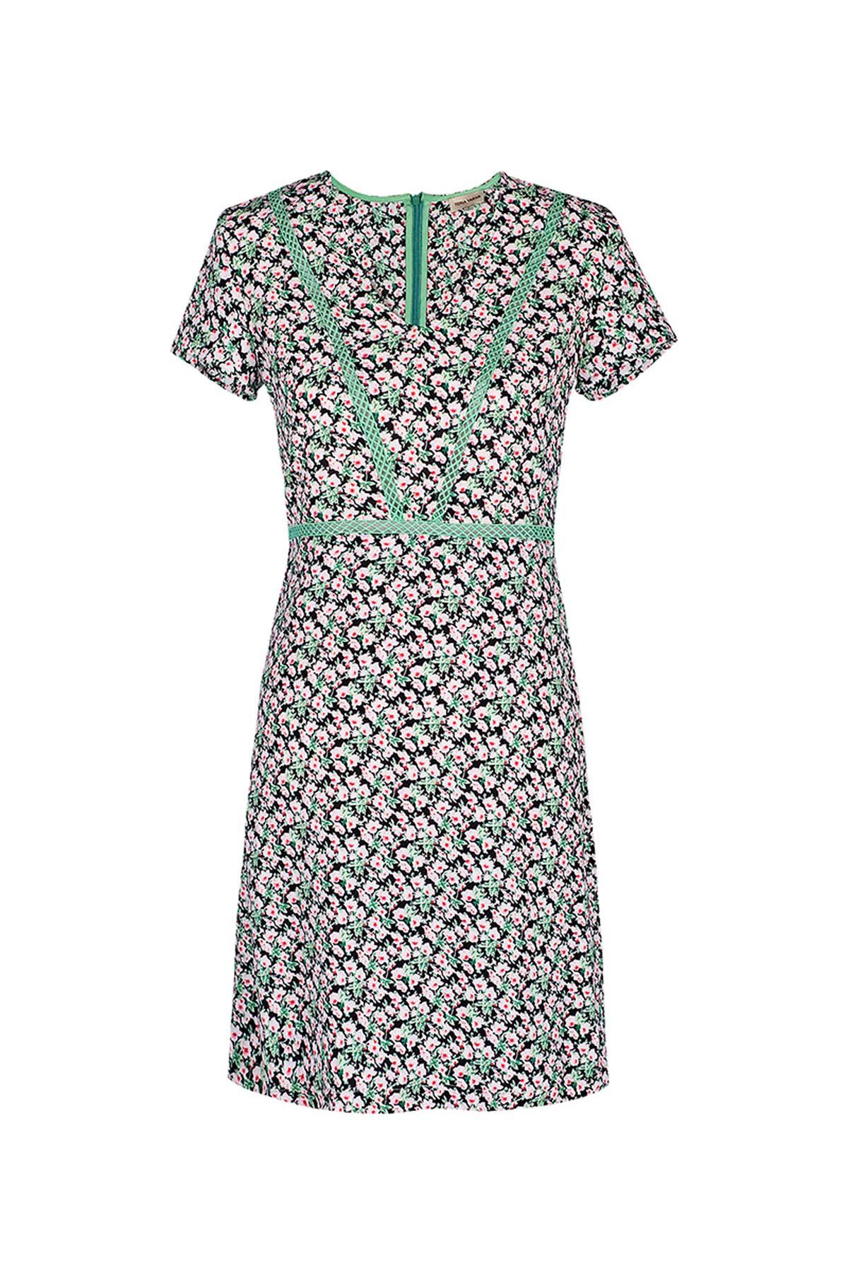 Teria Yabar - Vestido verde de flores