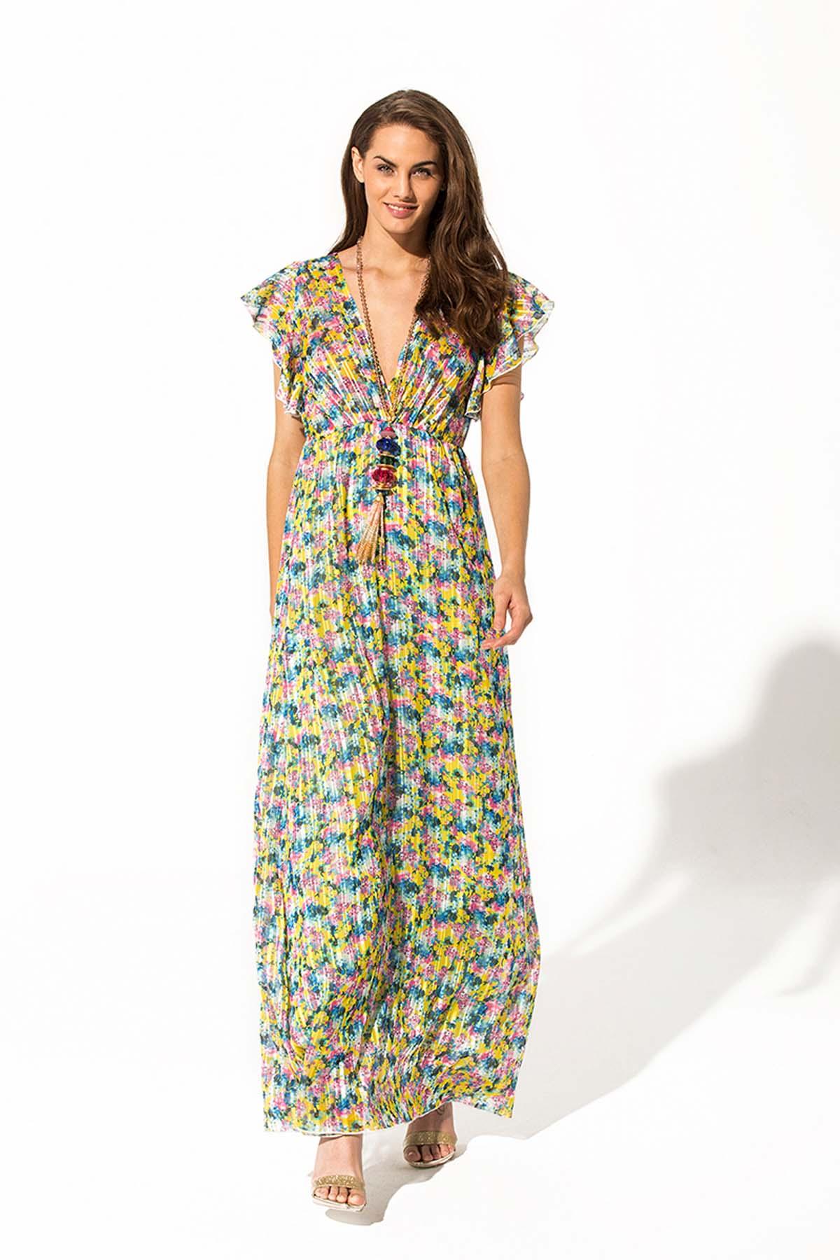 Teria Yabar - Vestido largo Liberty de verano