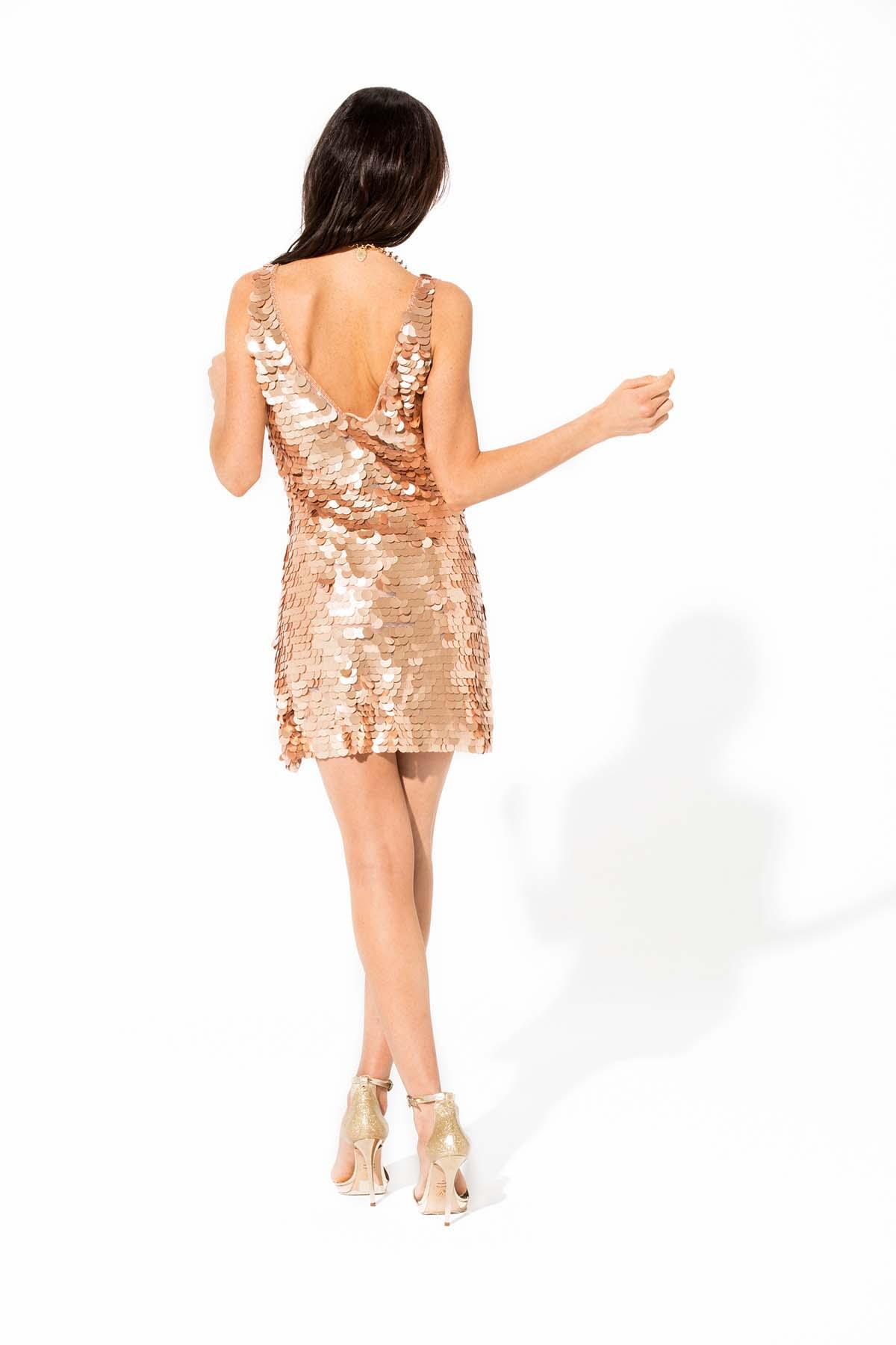 Vestido mini de lentejuelas