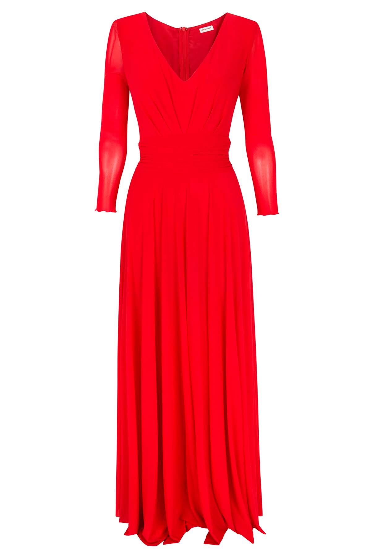 Teria Yabar - Vestido rojo de vuelo