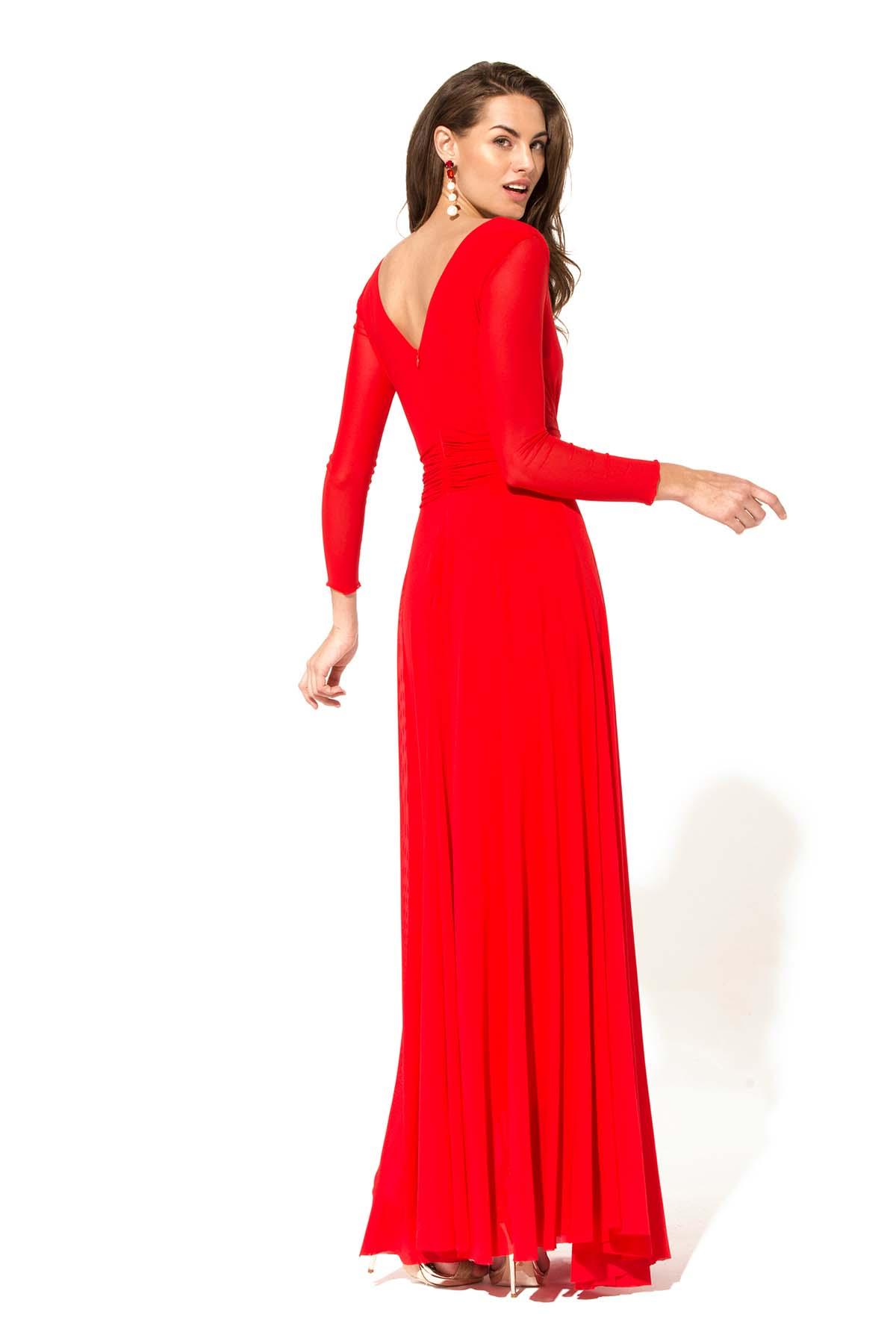 Vestido rojo de vuelo