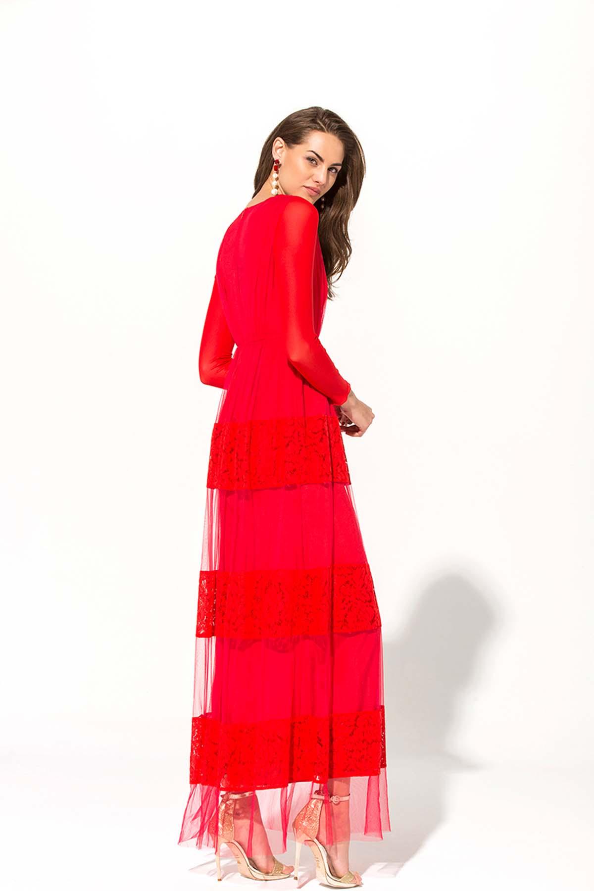 Vestido de fiesta Rubí Teria Yabar - Vestido de fiesta rubí