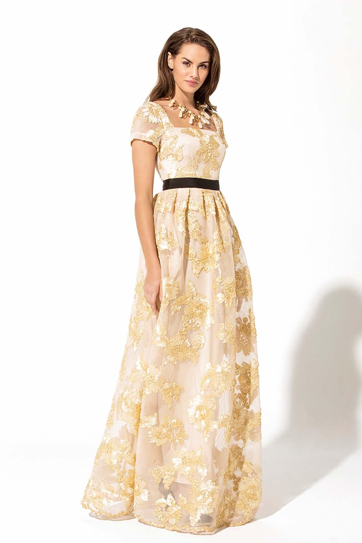 Teria Yabar - Vestido largo de flores