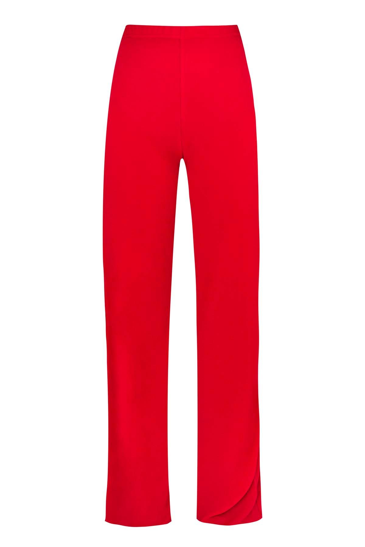 Teria Yabar - Pantalón flare rojo