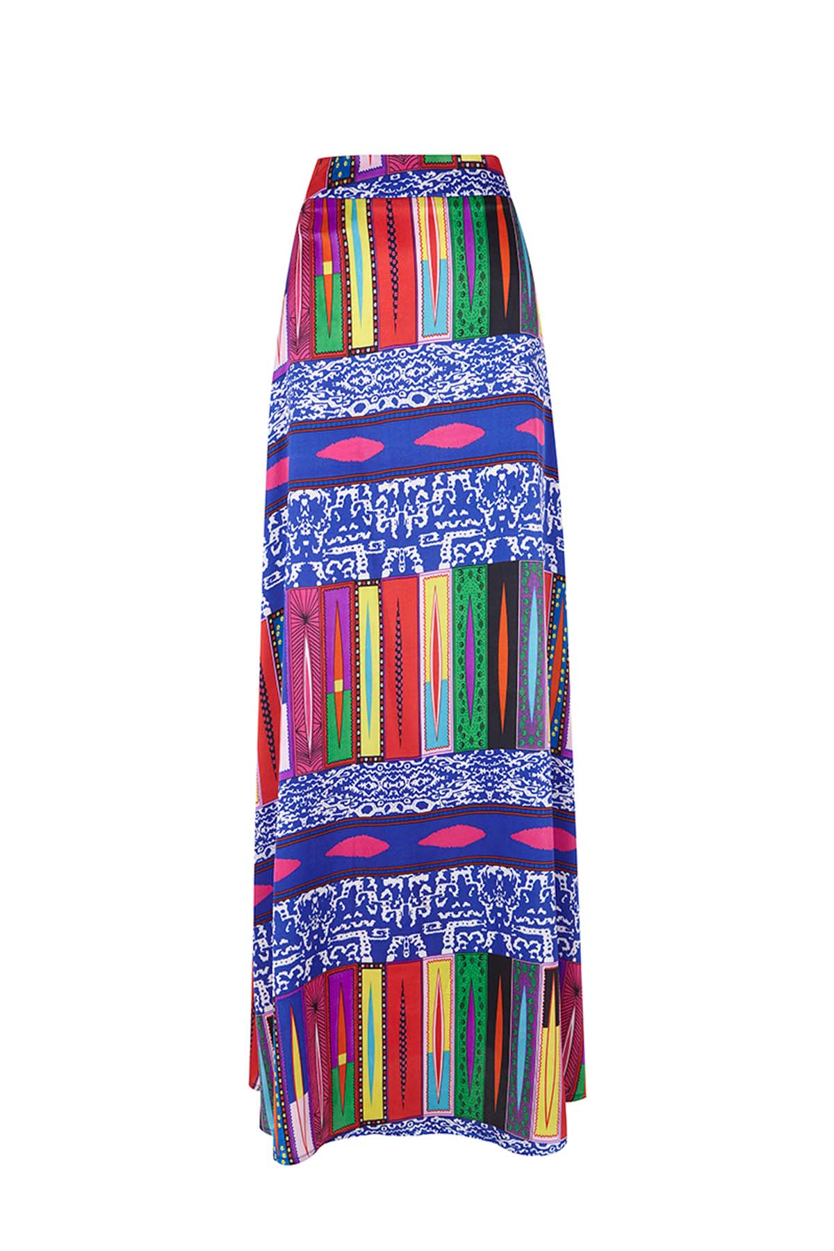 Teria Yabar - Falda larga multicolor