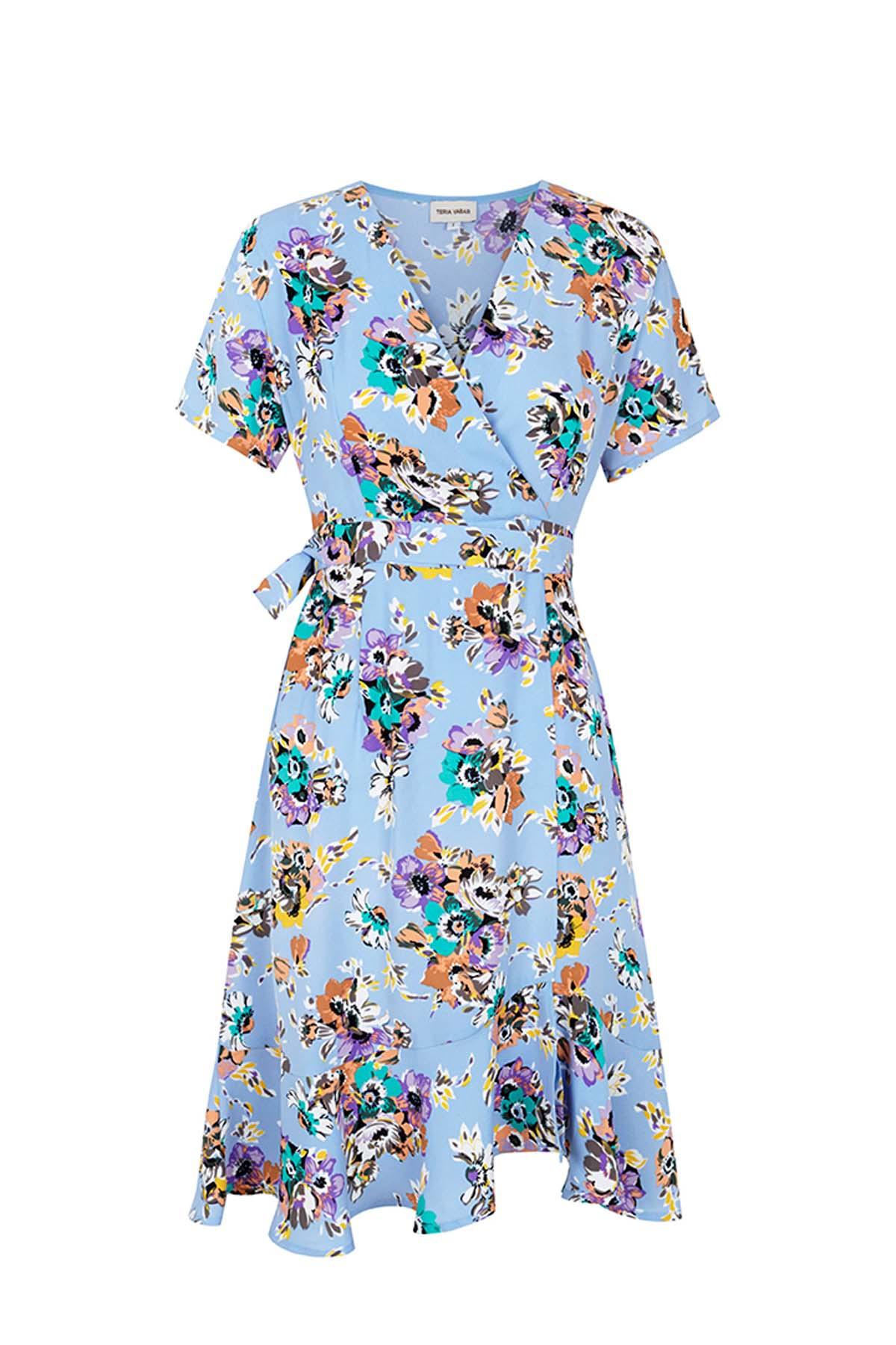 Teria Yabar - Vestido corto de flores