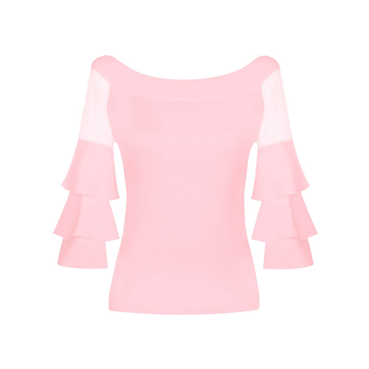 Teria Yabar - Jersey rosa con volantes