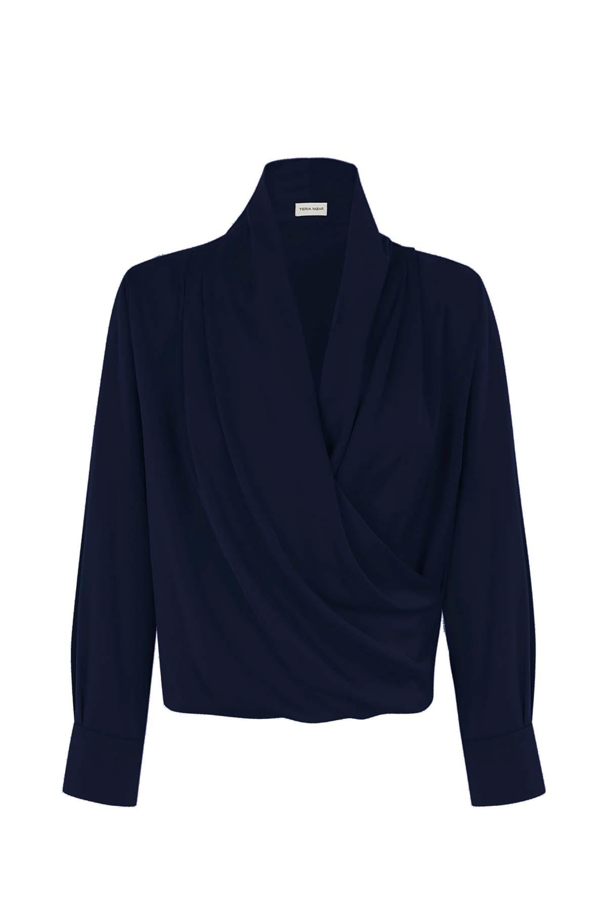 Teria Yabar - Camisa Passy bleu marine