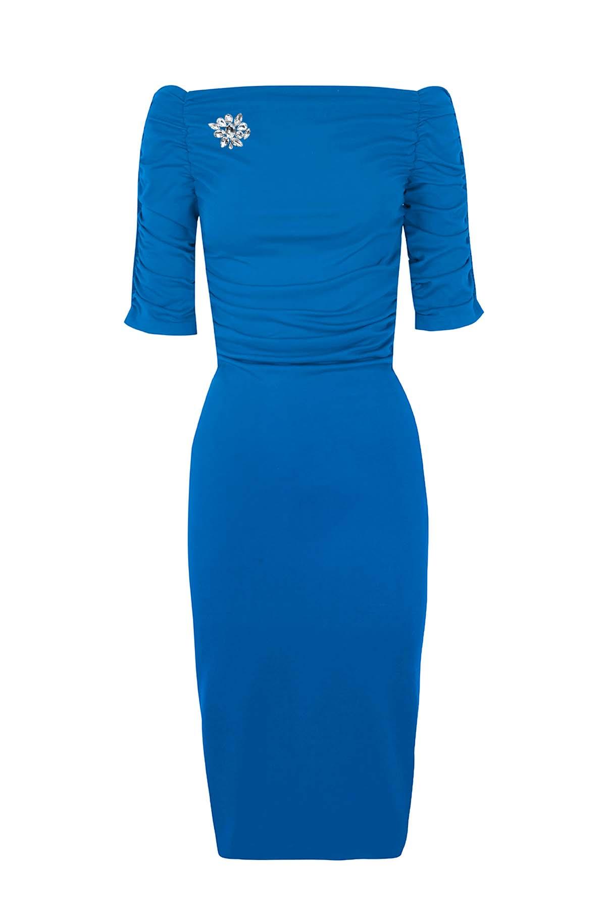 Teria Yabar - Vestido azul Luxembourg