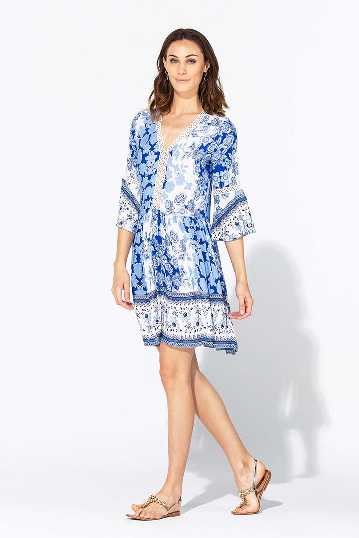 Vestido corto azul portugués