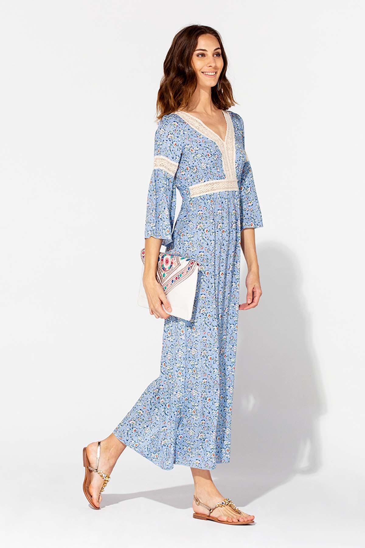 Vestido largo de crochet