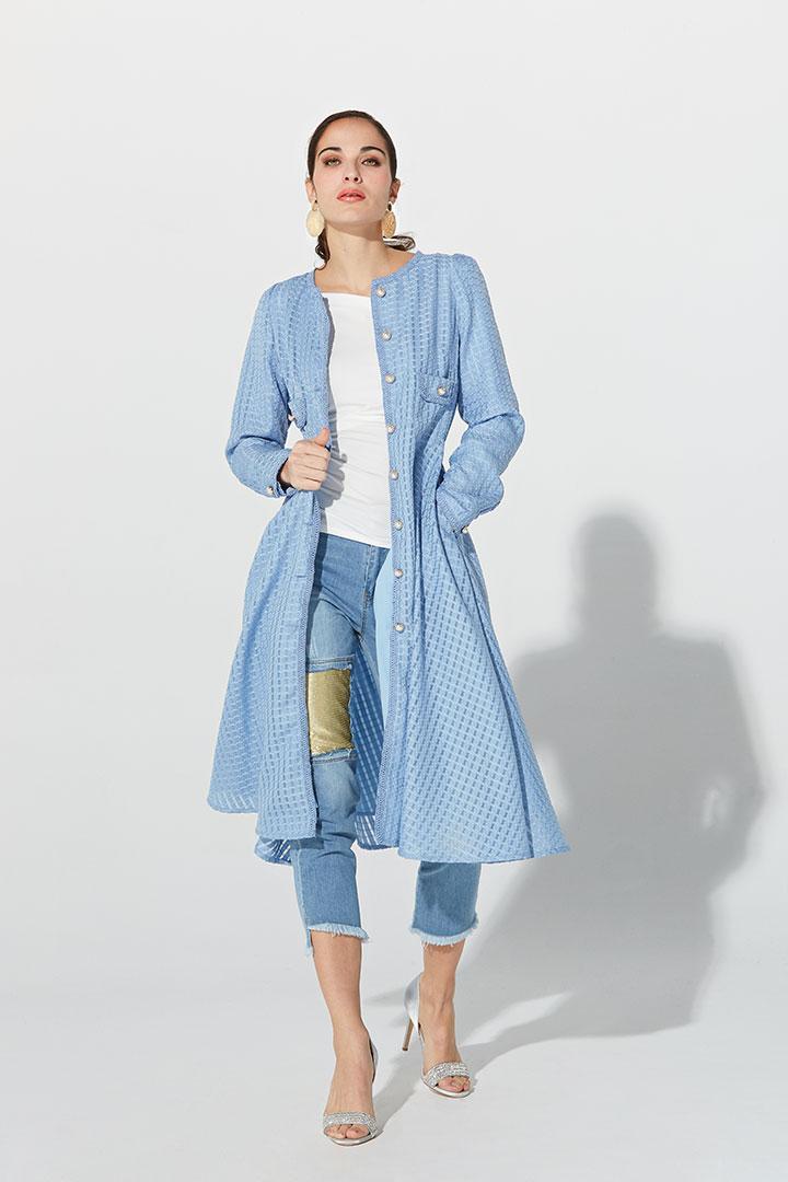 Vestido abrigo baby blue