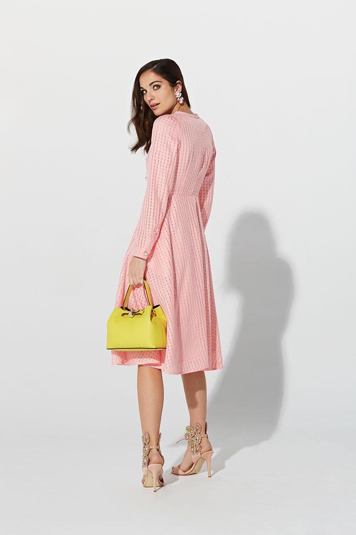 Vestido abrigo rosa