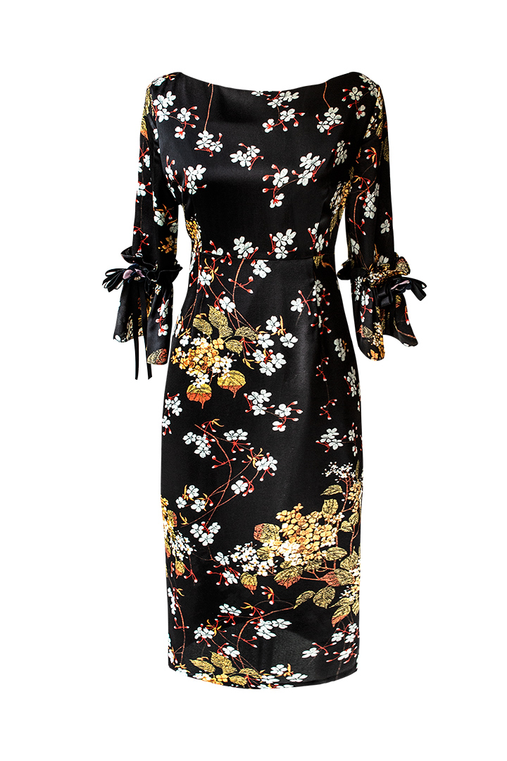 Vestido ajustado de estampado floral