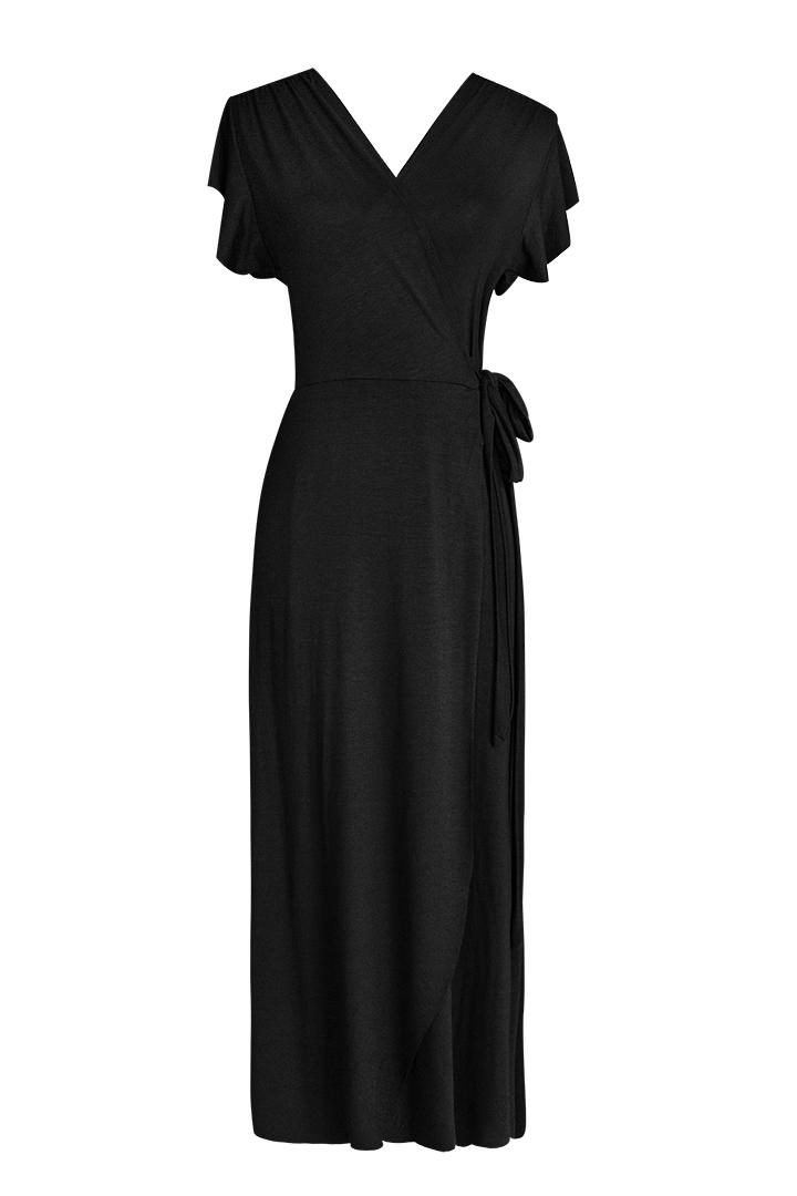 Vestido Cruzado Negro Basic Teria Yabar