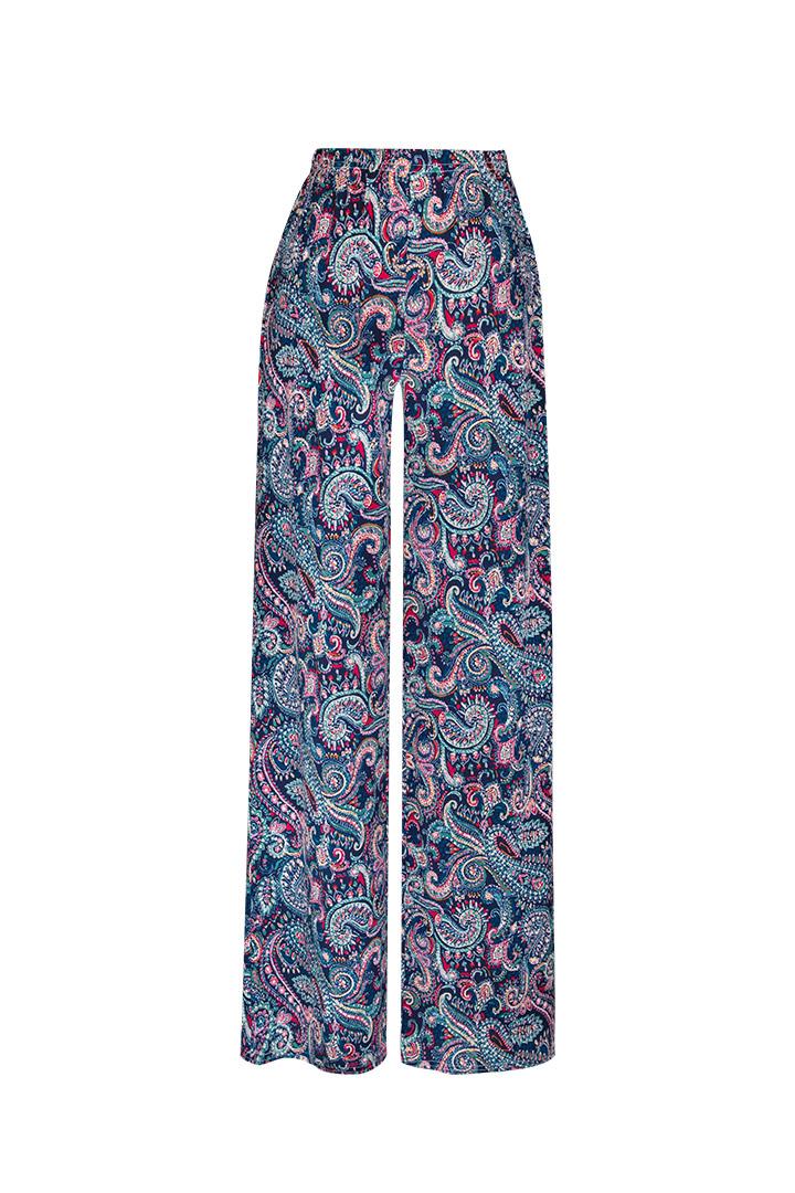 Pantalón basic étnico azul